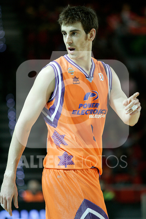 Valencia Basket's Victor Claver during Spanish Basketball King's Cup match.(ALTERPHOTOS/Acero)