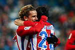 Atletico de Madrid's Antoine Griezmann, Nico Gaitan  during the match of Copa del Rey between Atletico de Madrid and Las Palmas, at Vicente Calderon Stadium,  Madrid, Spain. January 10, 2017. (ALTERPHOTOS/Rodrigo Jimenez)