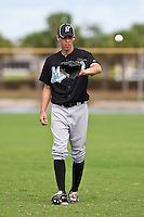 Christian Yelich of the Gulf Coast League Marlins during the game at the Washington Nationals Training Complex in Viera, Florida August 28 2010. Yelich was the Florida Marlins 1st round pick (23rd overall) of the 2010 MLB Draft. Photo By Scott Jontes/Four Seam Images