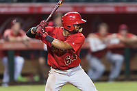 AZL Angels first baseman Bernabe Camargo (64) at bat during an Arizona League game against the AZL Diamondbacks at Tempe Diablo Stadium on July 16, 2018 in Tempe, Arizona. The AZL Diamondbacks defeated the AZL Angels by a score of 4-3. (Zachary Lucy/Four Seam Images)