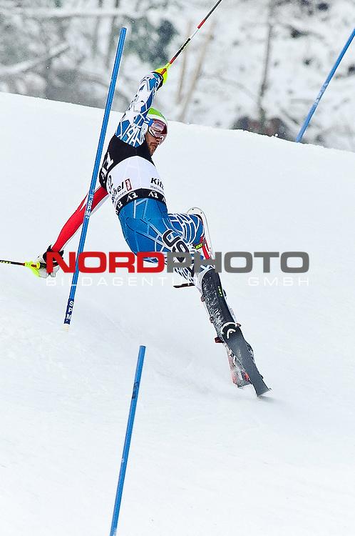 23.01.2011, Hahnenkamm, Kitzbuehel, AUT, FIS World Cup Ski Alpin, Men, Slalom, im Bild // Bode Miller (USA) // during the men slalom race at the FIS Alpine skiing World cup in Kitzbuehel, Foto © nph /  S. Zangrando