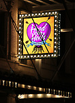 Theatre Marquee for Broadway's 'Head Over Heels' on July 12, 2018 at the Hudson Theatre in New York City.