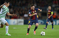 FUSSBALL   INTERNATIONAL   CHAMPIONS LEAGUE   2012/2013      FC Barcelona - Celtic FC Glasgow       23.10.2012 Lionel Messi (re, Barca) am Ball und Biram Kayal (Celtic)