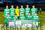 The Killarney Celtic team that defeated Jamesboro in the FAI cup quarter final in Celtic Park on Saturday night