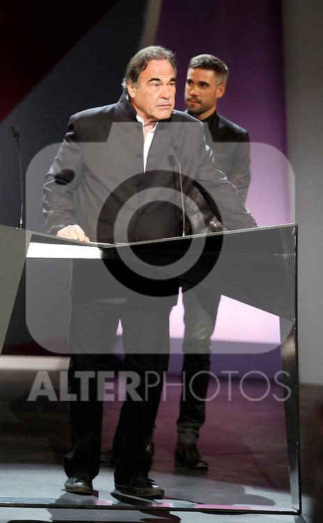 Oliver Stone during the 61st San Sebastian International Film Festival's opening ceremony, in San Sebastian, Spain. September 20, 2013. (ALTERPHOTOS/Victor Blanco)