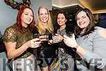 Pictured at the Portmagee Distilling and Brewing Company's 9 Year Old Whiskey Launch in the Moorings Bar on Sunday night were l-r; Maeve Murphy, Susann Wisnewski, Anne Carrayrou & Aine O'Shea.