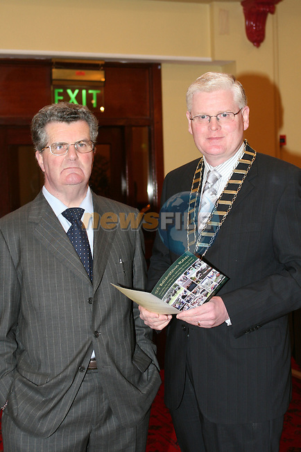 Jim Corcoran and Cllr. Frank Maher at the launch of the Bellewstown Races in the Boyne Valley Hotel...Photo NEWSFILE/Jenny Matthews.(Photo credit should read Jenny Matthews/NEWSFILE)....This Picture has been sent you under the condtions enclosed by:.Newsfile Ltd..The Studio,.Millmount Abbey,.Drogheda,.Co Meath..Ireland..Tel: +353(0)41-9871240.Fax: +353(0)41-9871260.GSM: +353(0)86-2500958.email: pictures@newsfile.ie.www.newsfile.ie.FTP: 193.120.102.198.