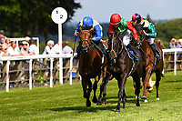 Winner of The British Stallion Studs EBF Margadale Fillies Handicap, Billesdon Bess ridden by Hollie Doyle and trained by Richard Hannon  during Afternoon Racing at Salisbury Racecourse on 13th June 2017