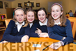 Bunscoil an Chlochair pupils Aoife White, Ella Sheehy, Clare O'Halloran and Ana Brosnan at the Credit Union Schools Table Quiz at Benners Hotel, Dingle, on Friday night.