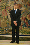 President of the Asian Development Bank, Takehiko Nakao, during an official meeting with King Felipe VI of Spain at Zarzuela Palace in Madrid, Spain. July 03, 2015. (ALTERPHOTOS/Victor Blanco)