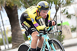 Primoz Roglic (SLO) Team Jumbo-Visma in action during Stage 7 of the Race of the Two Seas, the 54th Tirreno-Adriatico 2019, an individual time trial running 10.1km around San Benedetto del Tronto, Italy. 19th March 2019.<br /> Picture: LaPresse/Fabio Ferrari | Cyclefile<br /> <br /> <br /> All photos usage must carry mandatory copyright credit (&copy; Cyclefile | LaPresse/Fabio Ferrari)