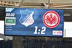 07.10.2018, wirsol Rhein-Neckar-Arena, Sinsheim, GER, 1 FBL, TSG 1899 Hoffenheim vs Eintracht Frankfurt, <br /> <br /> DFL REGULATIONS PROHIBIT ANY USE OF PHOTOGRAPHS AS IMAGE SEQUENCES AND/OR QUASI-VIDEO.<br /> <br /> im Bild: Endstand / Endergebnis / Anzeigetafel / Feature<br /> <br /> Foto &copy; nordphoto / Fabisch