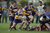 Kane Hancy makes a run from a ruck. Counties Manukau Premier Club Rugby, Patumahoe vs Manurewa played at Patumahoe on Saturday 6th May 2006. Patumahoe won 20 - 5.