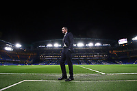 Swansea City manager Paul Clement inspects Stamford Bridge prior to kick off of the Premier League match between Chelsea and Swansea City at Stamford Bridge, London, England, UK. Wednesday 29 November 2017