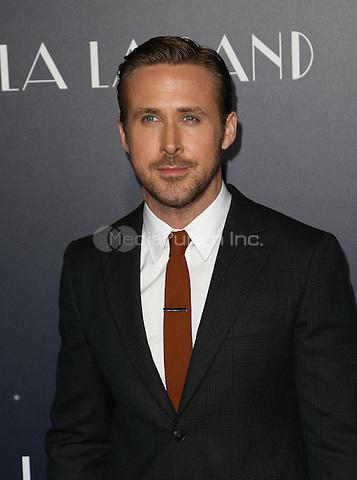 "Westwood, CA - DECEMBER 06: Ryan Gosling, At Premiere Of Lionsgate's ""La La Land"" At Mann Village Theatre, California on December 06, 2016. Credit: Faye Sadou/MediaPunch"