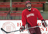 Tyler Moy (Harvard - 2) - The Harvard University Crimson practiced on Friday, October 22, 2013, at Bright-Landry Hockey Center in Cambridge, Massachusetts.