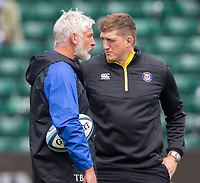 Bath Rugby's Head Coach Todd Blackadder and General Manager Stuart Hooper<br /> <br /> Photographer Bob Bradford/CameraSport<br /> <br /> Premiership Rugby Cup - Bath Rugby v Wasps - Sunday 5th May 2019 - The Recreation Ground - Bath<br /> <br /> World Copyright © 2018 CameraSport. All rights reserved. 43 Linden Ave. Countesthorpe. Leicester. England. LE8 5PG - Tel: +44 (0) 116 277 4147 - admin@camerasport.com - www.camerasport.com