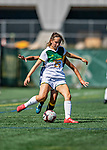 1 September 2019: University of Vermont Catamount Defender/Midfielder Hannah Stone, a Freshman from Birmingham, MI, in action against the Merrimack College Warriors in Game 3 of the TD Bank Women's Soccer Classic at Virtue Field in Burlington, Vermont. The Lady Warriors rallied in the second half to defeat the Catamounts 2-1. Mandatory Credit: Ed Wolfstein Photo *** RAW (NEF) Image File Available ***
