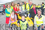 KINGDOM CARE CHARITY: Having great fun at the Kingdom Care Charity Shop Cycle at Tralee Mart on Saturday front l-r: Ali Kavanagh, Orlaith Hussey and Donie Cremins. Back l-r: Mary Curran Siobhan Hussey, Noreen Cremins, Aine Kenny, Tim Joe O'Connell, Pa O'Riordan and Karyn Moriarty.