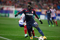 Olympiacos´s Masuaku during Champions League soccer match between Atletico de Madrid and Olympiacos at Vicente Calderon stadium in Madrid, Spain. November 26, 2014. (ALTERPHOTOS/Victor Blanco) /NortePhoto