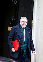 LONDON, UNITED KINGDOM - NOVEMBER 06: Secretary of State for Scotland David Mundell leaves after a Cabinet meeting at 10 Downing Street in central London. November 06, 2018 in London, England. <br /> CAP/GOL<br /> &copy;GOL/Capital Pictures