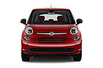 Straight front view of a 2014 Fiat 500L Hatchback