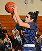 Brittny Membreno #33 of Massapequa grabs a rebound during a Nassau County varsity girls basketball game against host Farmingdale High School on Saturday, Jan. 28, 2017. Massapequa won 47-44 in overtime.