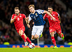 Malta's Paul Fenech and Alex Muscat chase Scotlands Stuart Armstrong during the World Cup Qualifying Group F match at Hampden Park Stadium, Glasgow. Picture date 4th September 2017. Picture credit should read: Craig Watson/Sportimage