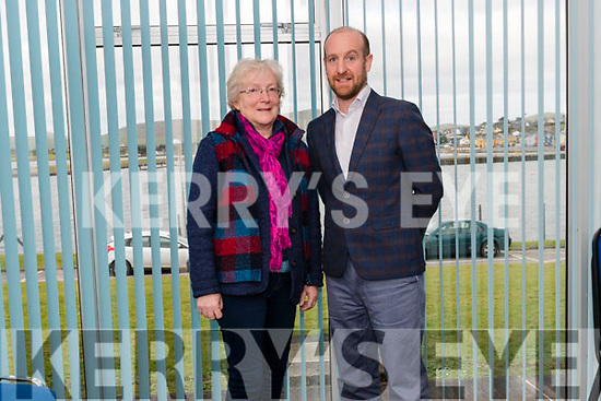 Maire Uí Léime, who chaired the Dingle Peninsula socio-economic survey meeting at the Dingle Hub, with the project's main researcher Dr. Brendan O'Keeffe.