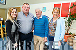 Elaine Forrest, Mike O'Connor, Michael Forrest and Eileen O'Connor supporting the RNLI Fundraising meal at the IT Tralee on Tuesday evening.