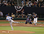 Reno Aces' Nick Ahmed bats against Las Vegas 51s' Logan Verrett, in Reno, Nev., on Saturday, Sept. 6, 2014. The Aces won 7-3, to win the Pacific Conference Championship Series. <br /> Photo by Cathleen Allison