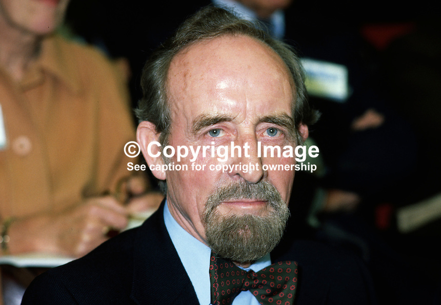 Sir Horace Cutler, Conservative Party Leader, Greater London Council, UK, taken annual conference in Brighton. 19801000315..Copyright Image from Victor Patterson, 54 Dorchester Park, Belfast, UK, BT9 6RJ..Tel: +44 28 9066 1296.Mob: +44 7802 353836.Voicemail +44 20 8816 7153.Skype: victorpattersonbelfast.Email: victorpatterson@mac.com.Email: victorpatterson@ireland.com (back-up)..IMPORTANT: If you wish to use this image or any other of my images please go to www.victorpatterson.com and click on the Terms & Conditions. Then contact me by email or phone with the reference number(s) of the image(s) concerned.
