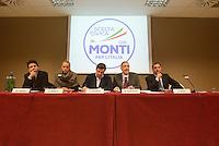 Roma, 29 Gennaio 2013.Presentazione candidati di.Scelta Civica con Monti per l'Italia.