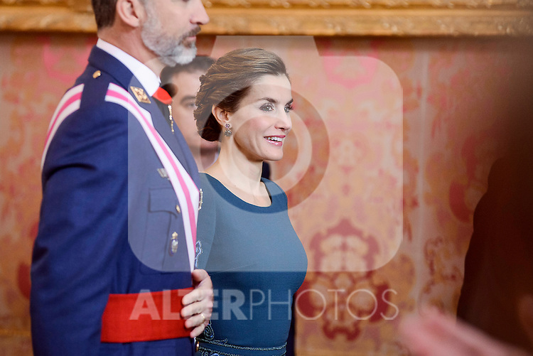 Queen Letizia during the Military Easter at Royal Palace in Madrid, Spain. January 06, 2017. (ALTERPHOTOS/BorjaB.Hojas)