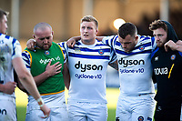 Bath Rugby players look dejected after the match. Gallagher Premiership match, between Exeter Chiefs and Bath Rugby on March 24, 2019 at Sandy Park in Exeter, England. Photo by: Patrick Khachfe / Onside Images