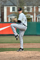 Cincinnati Bearcats pitcher Dan Jensen (49)  during a game vs. St. John's Red Storm at Jack Kaiser Stadium in Queens, NY;  March 25, 2011.  St. John's defeated Cincinnati 3-2.  Photo By Tomasso DeRosa/Four Seam Images