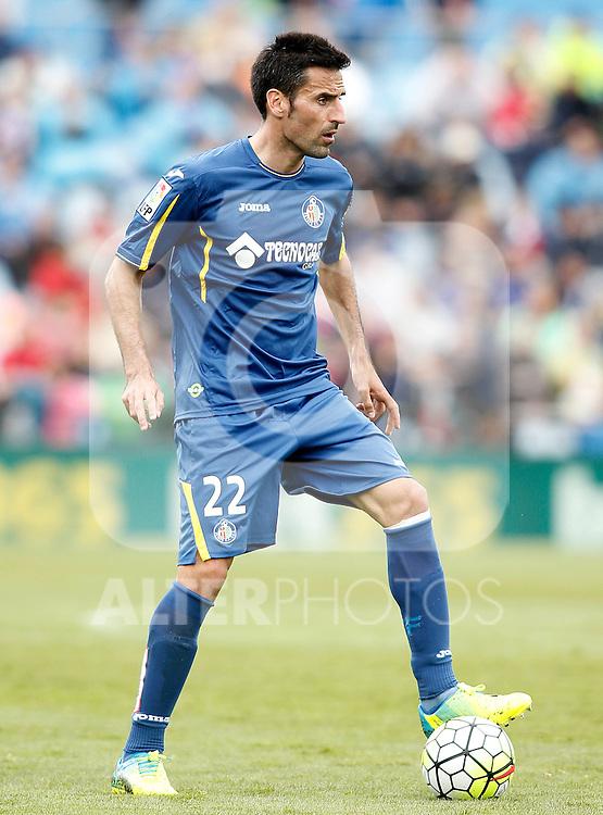 Getafe's Juan Rodriguez during La Liga match. April 16,2016. (ALTERPHOTOS/Acero)