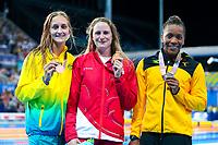 Picture by Alex Whitehead/SWpix.com - 06/04/2018 - Commonwealth Games - Swimming - Optus Aquatics Centre, Gold Coast, Australia - Sarah Vasey of England wins Gold in the Women's 50m Breaststroke final.