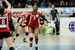 Rüsselsheim, Germany, April 13: Dominique Lamb #2 of the Rote Raben Vilsbiburg in action during play off Game 1 in the best of three series in the semifinal of the DVL (Deutsche Volleyball-Bundesliga Damen) season 2013/2014 between the VC Wiesbaden and the Rote Raben Vilsbiburg on April 13, 2014 at Grosssporthalle in Rüsselsheim, Germany. Final score 0:3 (Photo by Dirk Markgraf / www.265-images.com) *** Local caption ***