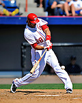 12 March 2011: Washington Nationals' outfielder Michael Morse at bat during a Spring Training game against the New York Yankees at Space Coast Stadium in Viera, Florida. The Nationals edged out the Yankees 6-5 in Grapefruit League action. Mandatory Credit: Ed Wolfstein Photo