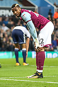 12th September 2017, Villa Park, Birmingham, England; EFL Championship football, Aston Villa versus Middlesbrough; Jonathan Kodjia of Aston Villa contemplates the great chance he had on goal but missed
