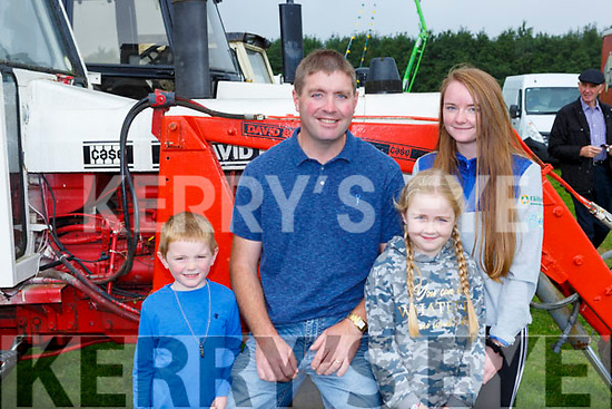 Oisin, Vincent, Meadbh and Katie O'Brien Muckross at the Treshing for cancer in Beaufort on Sunday