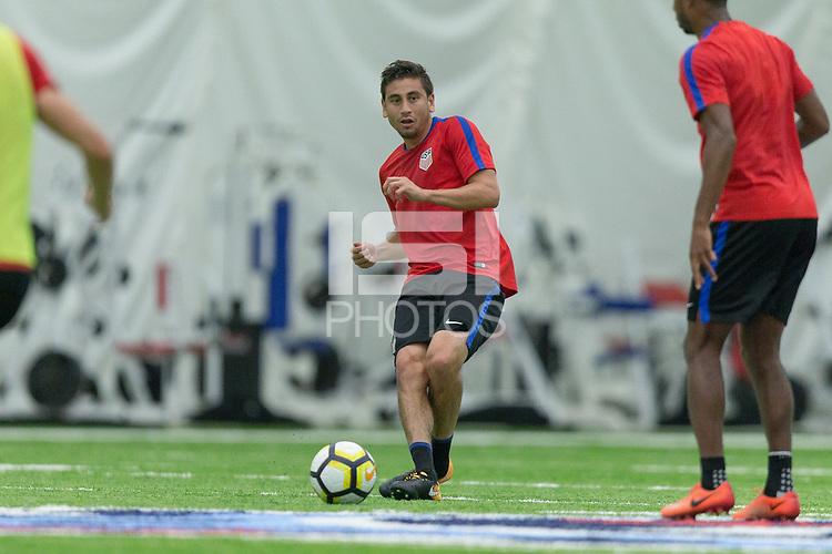 Nashville, TN - July 5, 2017: Alejandro Bedoya during Training Titans Practice Facility prior to their 2017 Gold Cup.