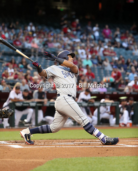 Yangervis Solarte - 2017 San Diego Padres (Bill Mitchell)
