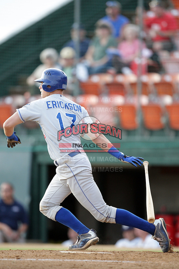 August 12, 2009: Gorman Erickson of the Ogden Raptors. The Ogden Raptors are the Pioneer League affiliate of the Los Angeles Dodgers. Photo by: Chris Proctor/Four Seam Images