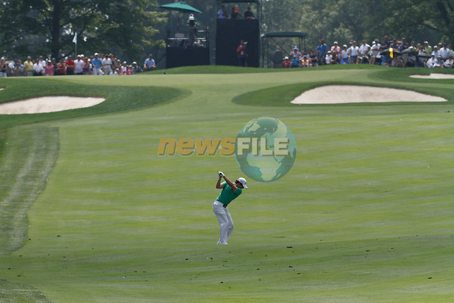 Rory McIlroy (NIR) on the 2nd on the final day of the World Golf Championship Bridgestone Invitational, from Firestone Country Club, Akron, Ohio. 7/8/11.Picture Fran Caffrey www.golffile.ie