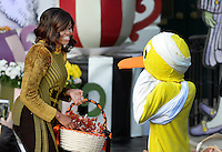 First lady Michelle Obama hands out treats during a Halloween event at the South Lawn of the White House October 31, 2016 in Washington, DC. The first couple hosted local children and children of military families for trick-or-treating at the White House.<br /> Credit: Olivier Douliery / Pool via CNP /MediaPunch