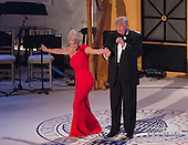 "President-elect of The United States Donald J. Trump has his campaign manager Kellyanne Conway take a bow at the ""Candlelight"" dinner to thank donors in Washington, DC, January 19, 2017. <br /> Credit: Chris Kleponis / Pool via CNP"