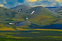 Ogilvie Mountains  along the Dempster Highway<br /> Dempster Highway<br /> Yukon<br /> Canada