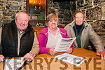 Clonmel Coursing Preview: Attending the Clonmel Coursing preview at the Dew Drop Inn bar, Lixnaw on Sunday evening last were Michael Ferris, Mary Curran & Johnny McCarthy, Lixnaw.